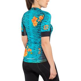 Alé Cycling Graphics PRR Savana Maillot Manga Corta Mujer, turquoise-flou orange